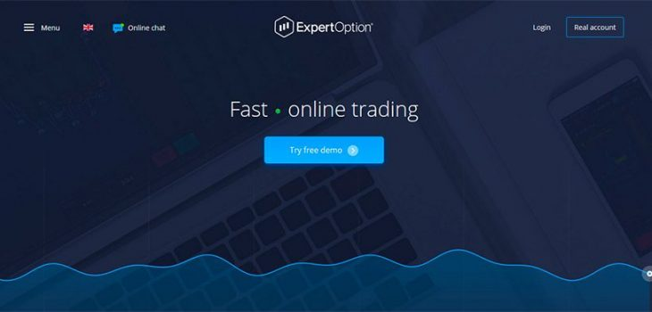 ExpertOption main page