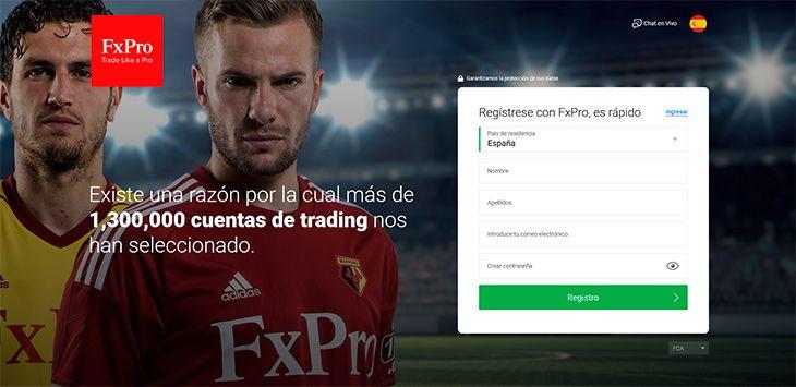 FXPro abre una cuenta demo