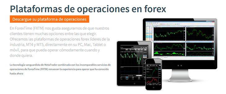 Plataformas de operaciones en FXTM