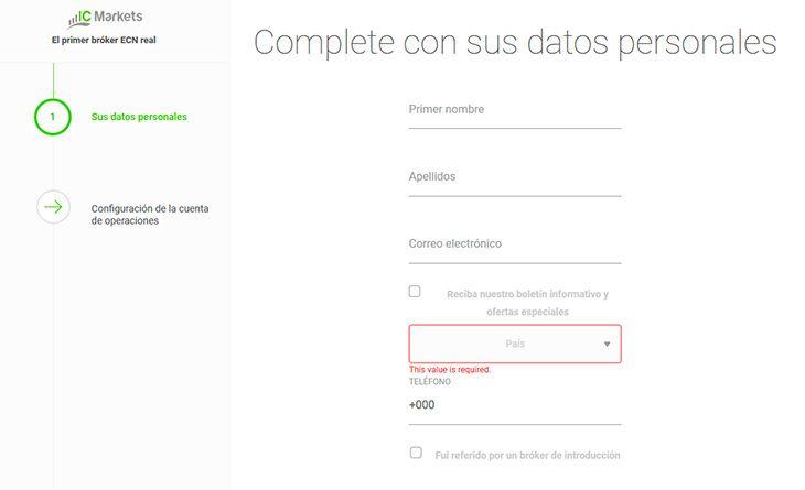 Guía para Abrir una Cuenta Demo