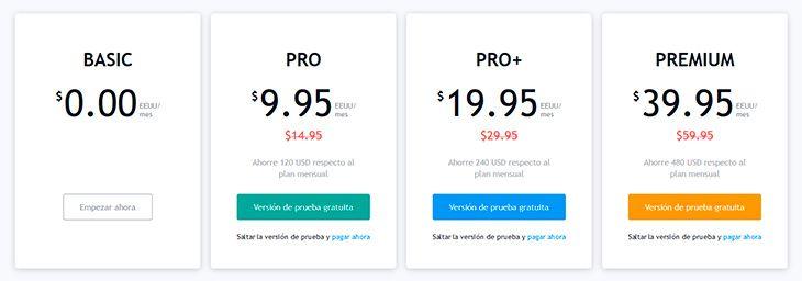 Cuenta gratis vs. cuenta paga