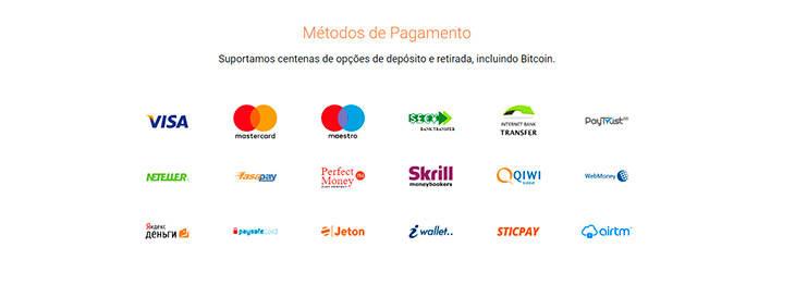 Binary.com métodos de pagamento