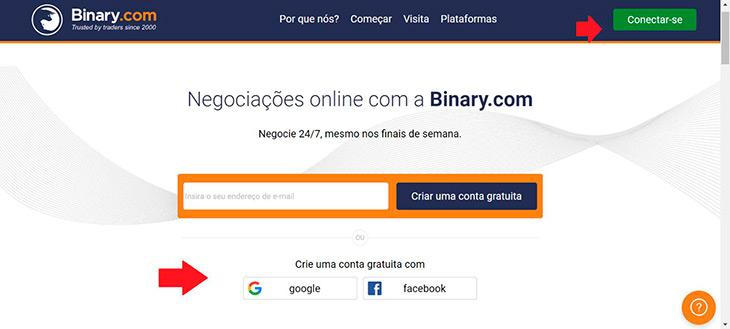 Como começar na Binary.com?
