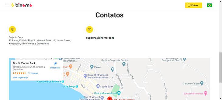Binomo contatos