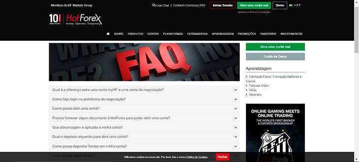HotForex FAQ