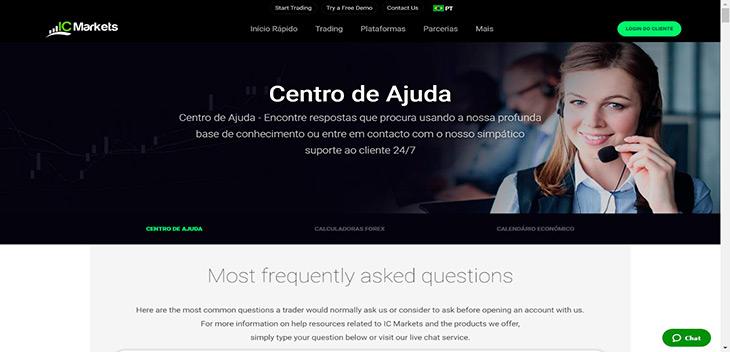 IC Markets centro de ajuda