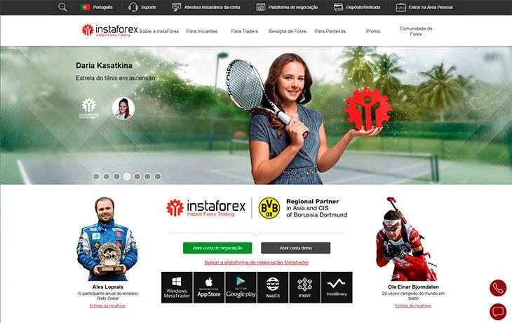Instaforex home page