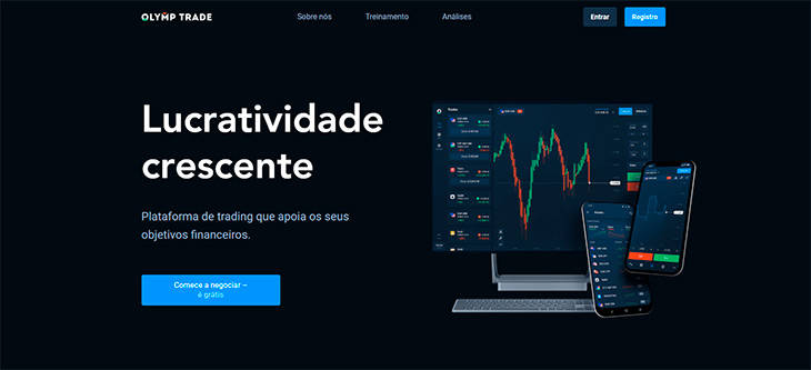 OlympTrade home page