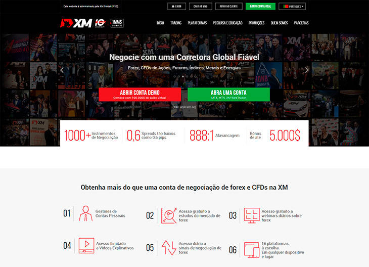 XM Forex home page