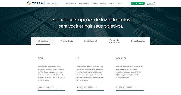 Quais são os ativos da Terra Investimentos?